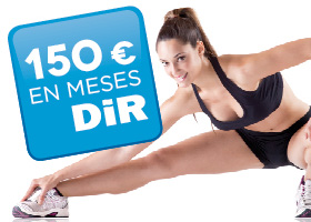 150 € para el DiR. Súbete al estilo de vida saludable!