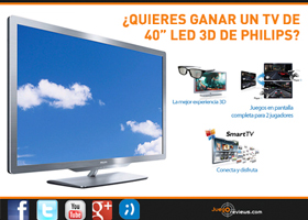 ¡Una TV 3D puede ser tuya!