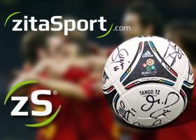 Balón Euro2012 firmado por los jugadores
