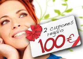 2 cupones de 100 euros cada uno