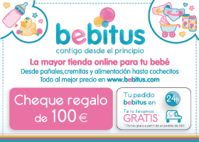 Tarjeta regalo de 100€ en Bebitus.com