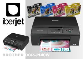 2 impresoras multifunción Brother DCP-J140W + 4 juegosde cartuchos