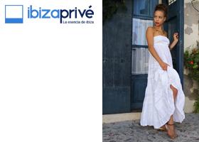 Vestido blanco de Ibiza. Moda Adlib