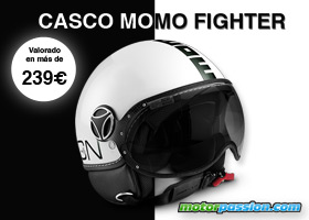 Casco Momo Fighter blanco
