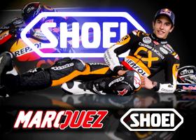 Casco Shoei de Marc Márquez firmado