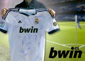 bwin.es regala la camiseta firmada del Real Madrid