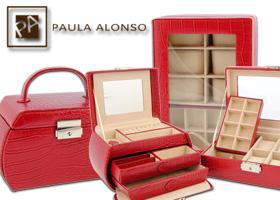 Fabuloso Conjunto de Joyero y Relojero en coco rojo