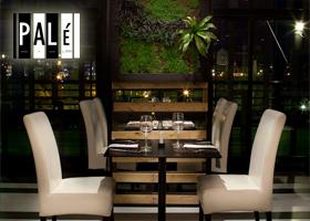 Cena romántica para dos personas en restaurante Palé