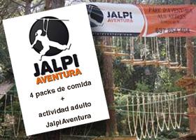 4 packs comida + actividad adulto a Jalpi Aventura