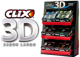 30 lotes de chicles Clix 3D
