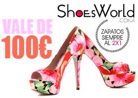 Vale de 100€ para gastar en ShoesWord.com