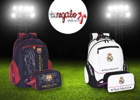 Gana LA MOCHILA + NECESER OFICIAL del Barça o del Real Madrid