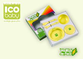 Vajilla de maíz biodegradable ICO Baby