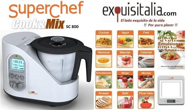 Sorteo gana fant stico robot de cocina superchef cook mix sorteamus - Robot de cocina superchef ...