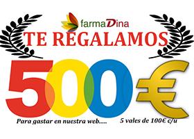 FARMADINA TE REGALA 500 EUROS