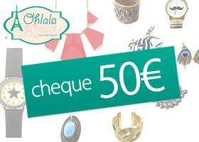 Tienda de bisutería ohlalabijoux: cheque regalo de 50€