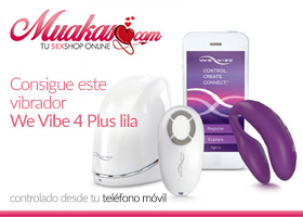 WE VIBE 4 PLUS LILA CONTROL REMOTO DESDE MOVIL