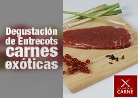 Degustación de Entrecots carnes exóticas 300Gr.