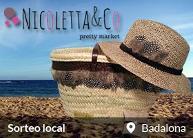 Capazo Plumas, Sombrero y Pulsera Nicoletta&Co