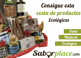 CESTA REGALO PRODUCTOS ECOLÓGICOS SABORPLACE