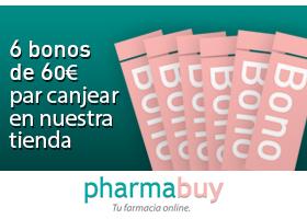 GANA 6 BONOS DE 60€ PARA CANJEAR EN PHARMABUY