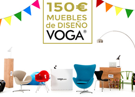 Vale 150€ en muebles de diseño VOGA.com