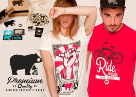 Gana un pack de camisetas de diseño edición limitada