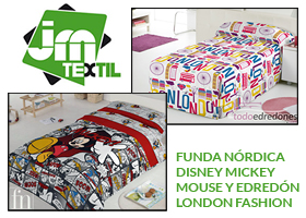 CONSIGUE FUNDA NÓRDICA MICKEY MOUSE Y EDREDÓN LONDON FASHION