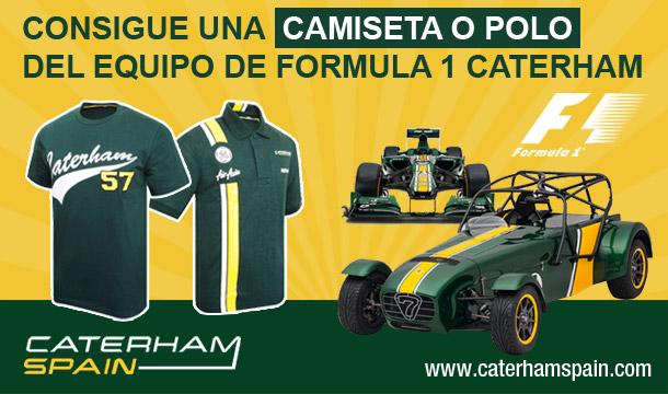 Sorteo Consigue un polo o camiseta de Caterham 56a67d5a93185