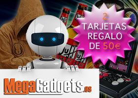 2 TARJETAS REGALO DE 50€ PARA COMPRAR EN MEGAGADGETS.ES