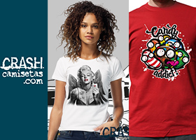 Conoce a Crash Camisetas, camisetas originales